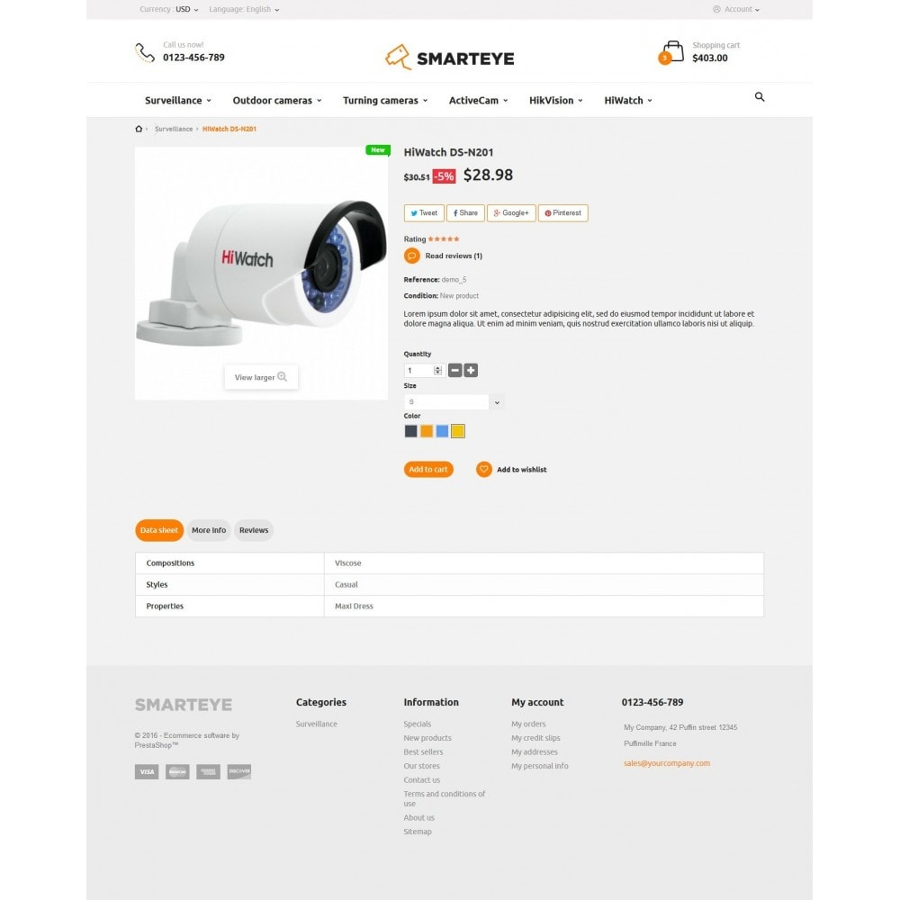 theme - Electronique & High Tech - SmartEye Security Cameras - 7