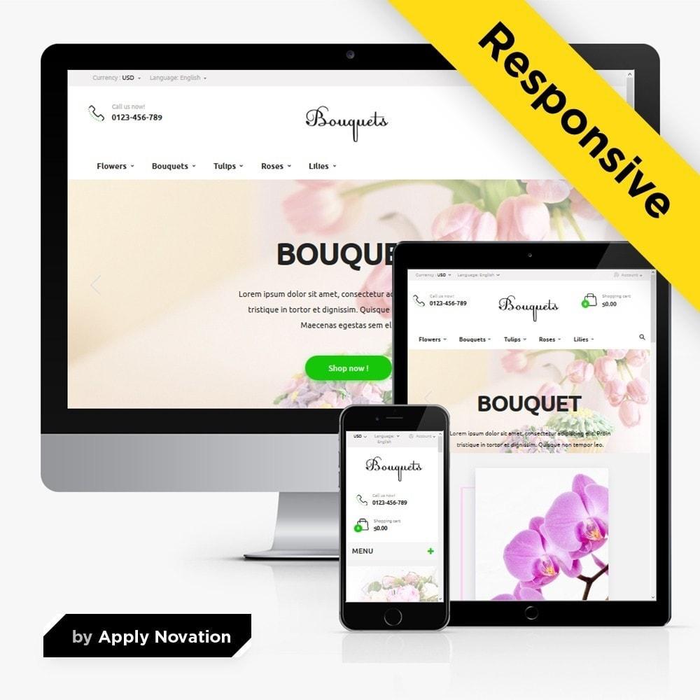 theme - Подарки, Цветы и праздничные товары - Bouquets Flower Shop - 1