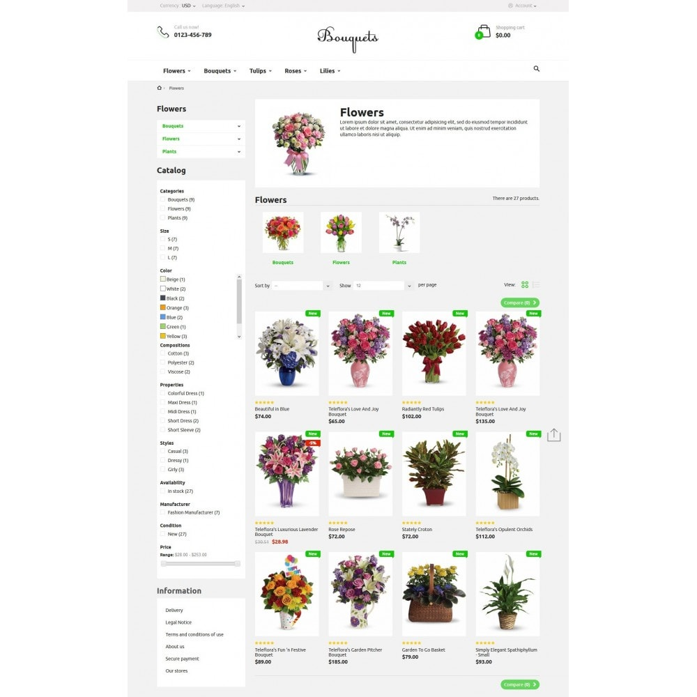 theme - Подарки, Цветы и праздничные товары - Bouquets Flower Shop - 5