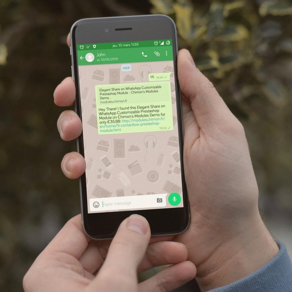 module - Boutons de Partage & Commentaires - Partage sur WhatsApp élégant et personnalisable - 3