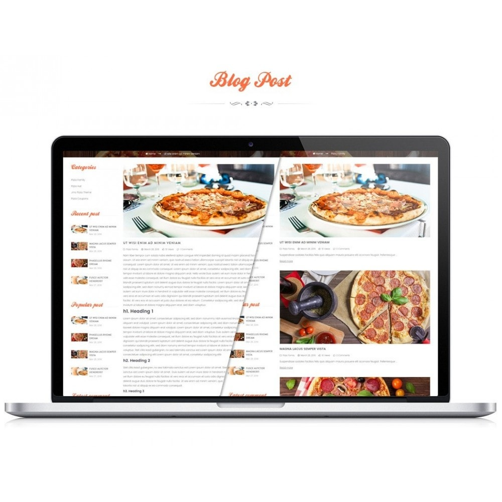 theme - Продовольствие и рестораны - JMS Pizza - 3