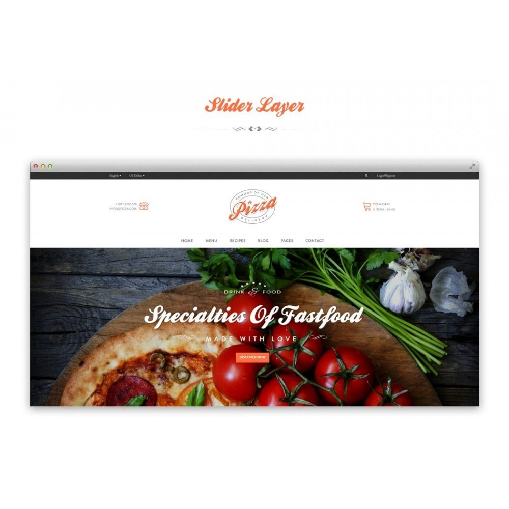 theme - Продовольствие и рестораны - JMS Pizza - 4
