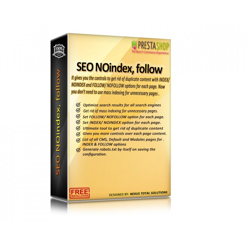module - SEO (Referenciamento natural) - SEO NOindex,follow (handles Duplicate content) - 1