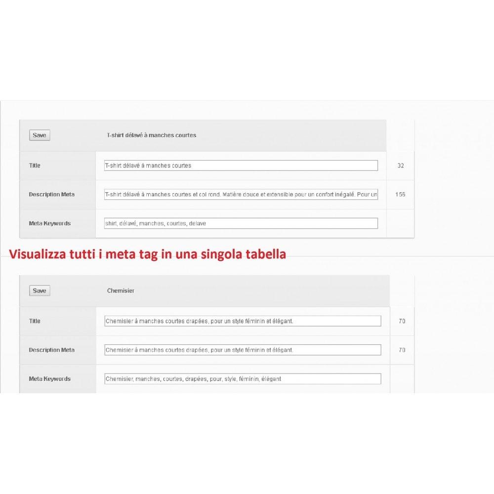 module - SEO (Indicizzazione naturale) - META TAGS EDITOR - 1
