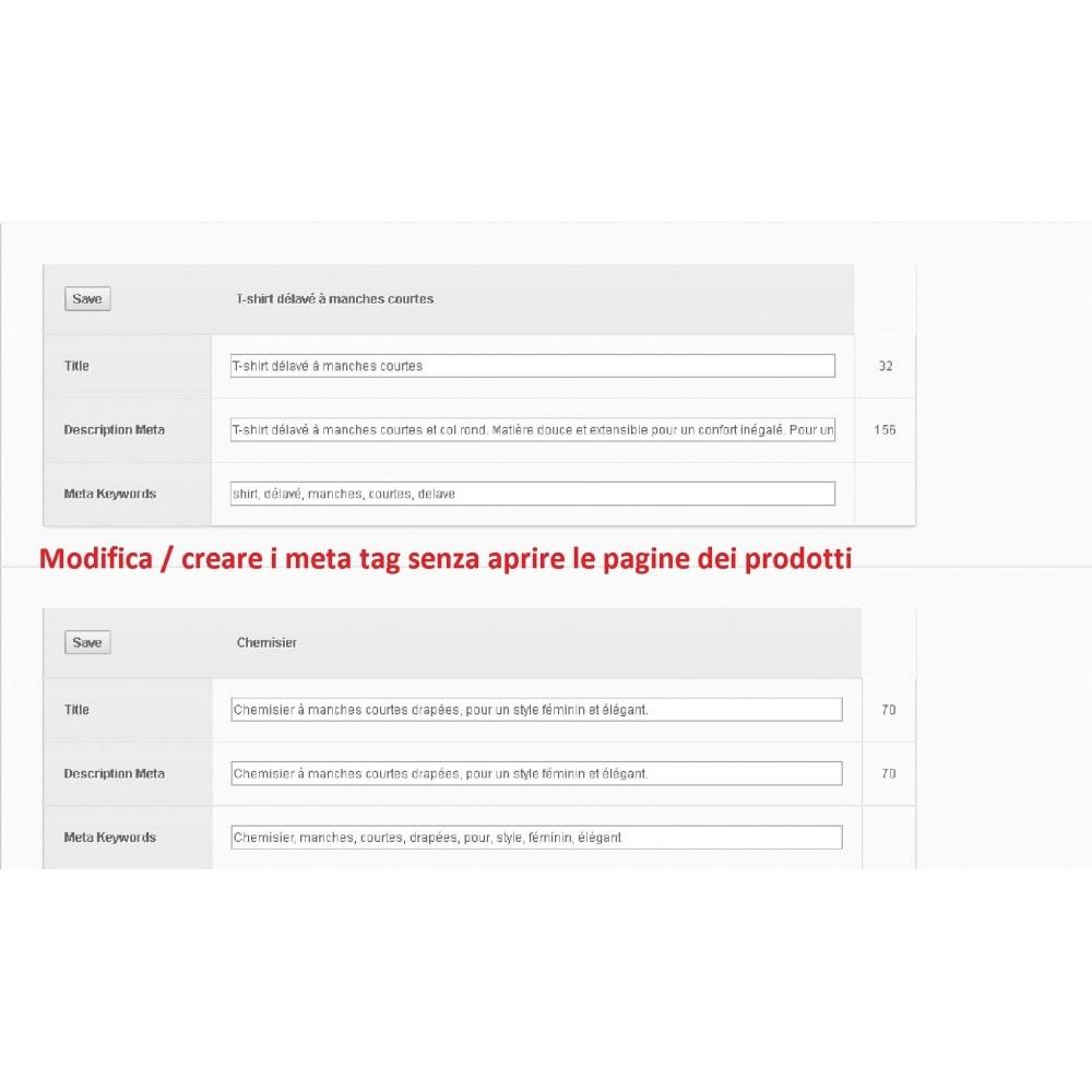 module - SEO (Indicizzazione naturale) - META TAGS EDITOR - 2