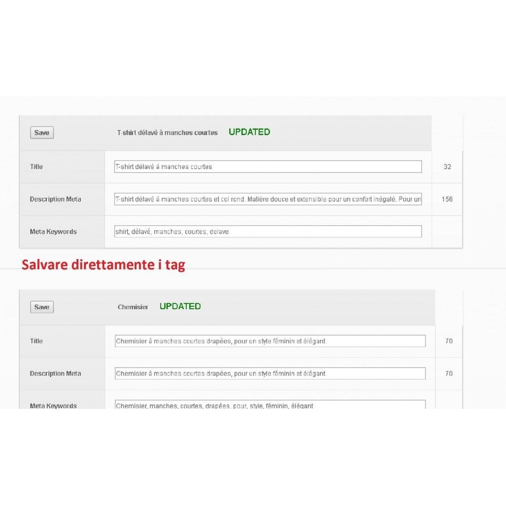 module - SEO (Indicizzazione naturale) - META TAGS EDITOR - 3