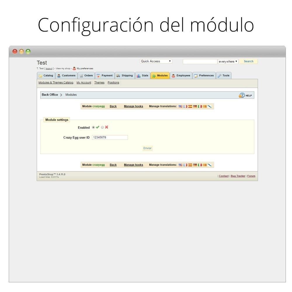 module - Informes y Estadísticas - Crazy Egg - Visualiza dónde clican tus visitantes - 4