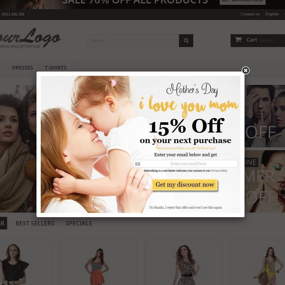 module - Pop-up - Email Leads Collector Popup with Discount Coupon - 4