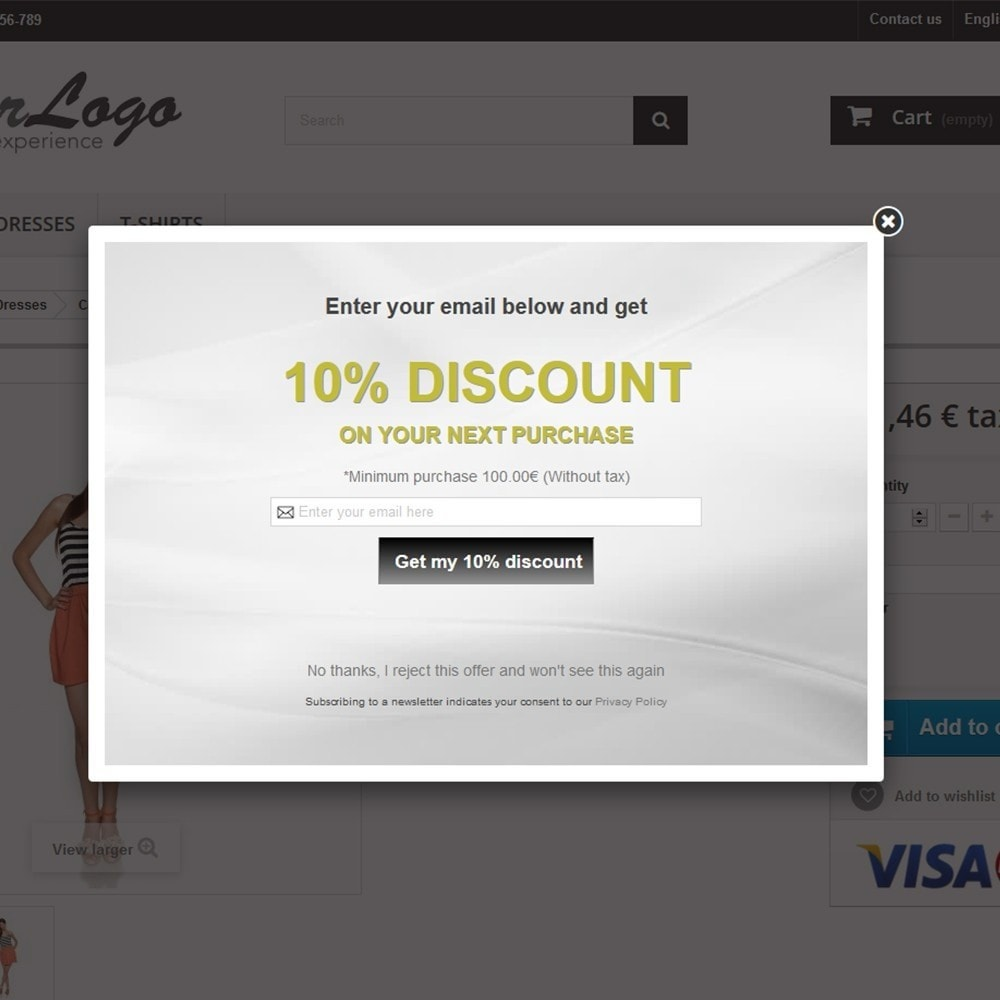 module - Pop-up - Email Leads Collector Popup with Discount Coupon - 10