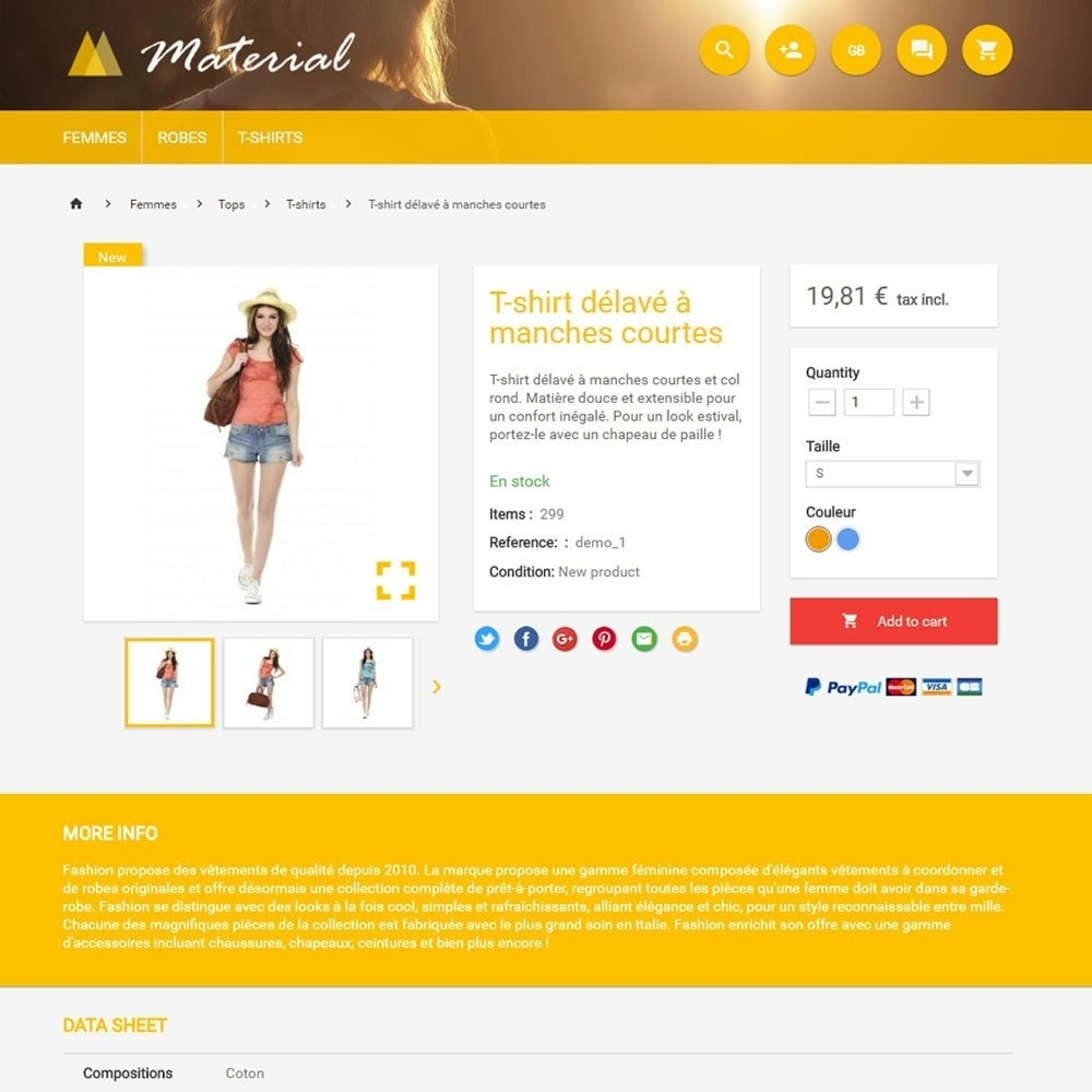 theme - Fashion & Shoes - Material - 4