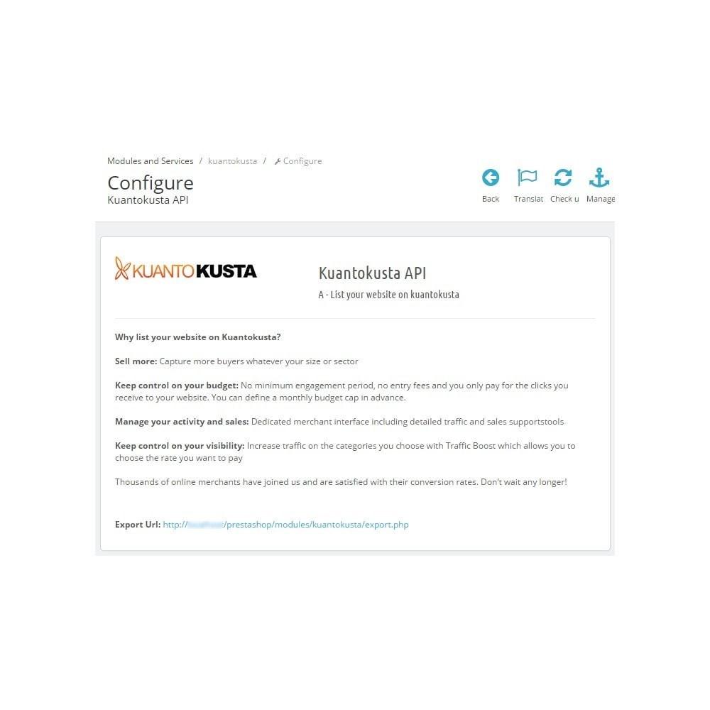 module - Comparateurs de prix - Kuantokusta API - 4