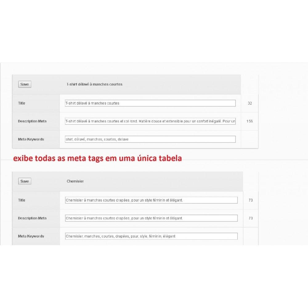 module - SEO (Referenciamento natural) - META TAGS EDITOR - 1