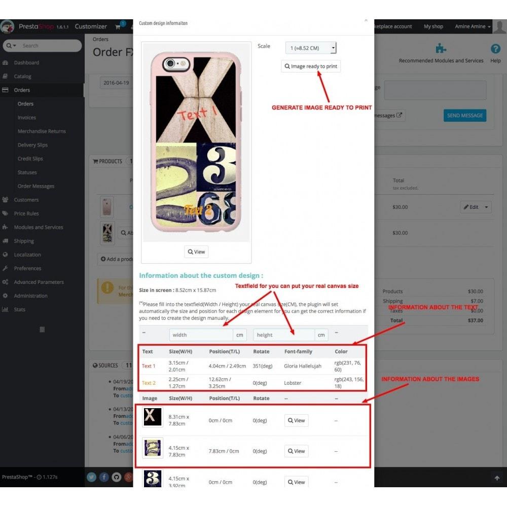 module - Combinazioni & Personalizzazione Prodotti - Product Customization Designer - Cdesigner Customize - 11