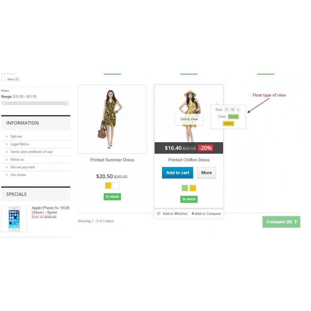 module - Déclinaisons & Personnalisation de produits - Show combinations / Hover product list attributes - 6