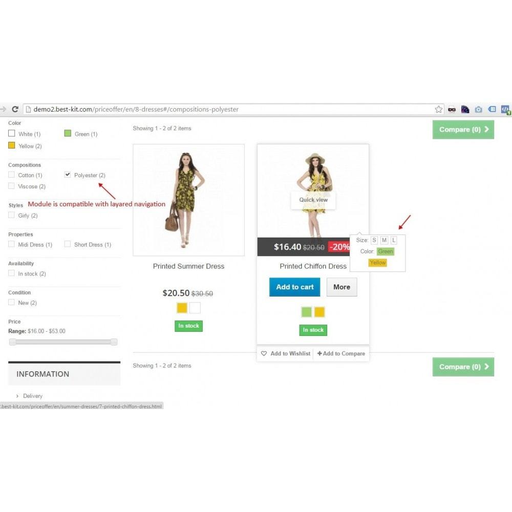 module - Déclinaisons & Personnalisation de produits - Show combinations / Hover product list attributes - 7