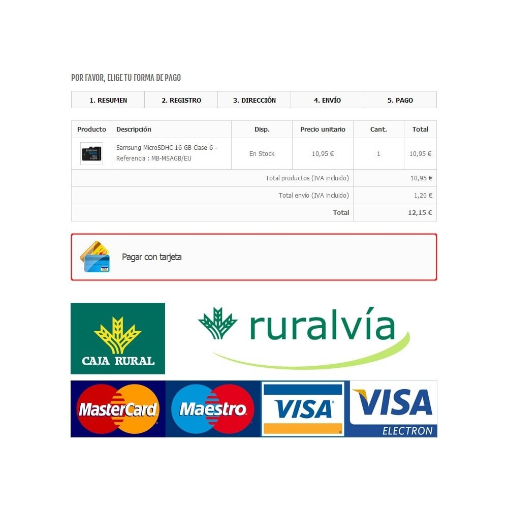 module - Paiement par Carte ou Wallet - Caja Rural / Ruralvia Virtual POS (Updated) - 1
