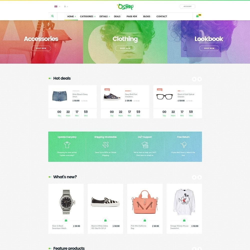 theme - Mode & Chaussures - Oshop - 2