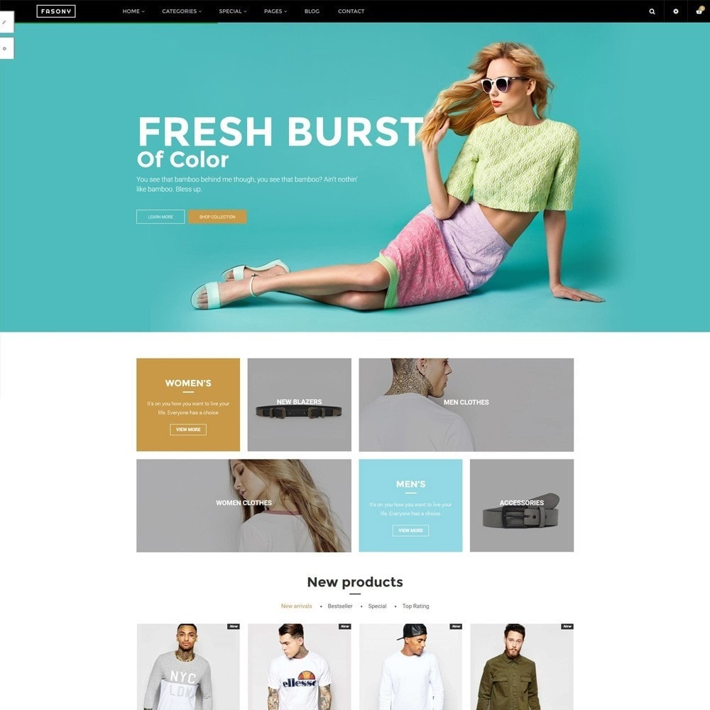 theme - Fashion & Shoes - Fasony - 1