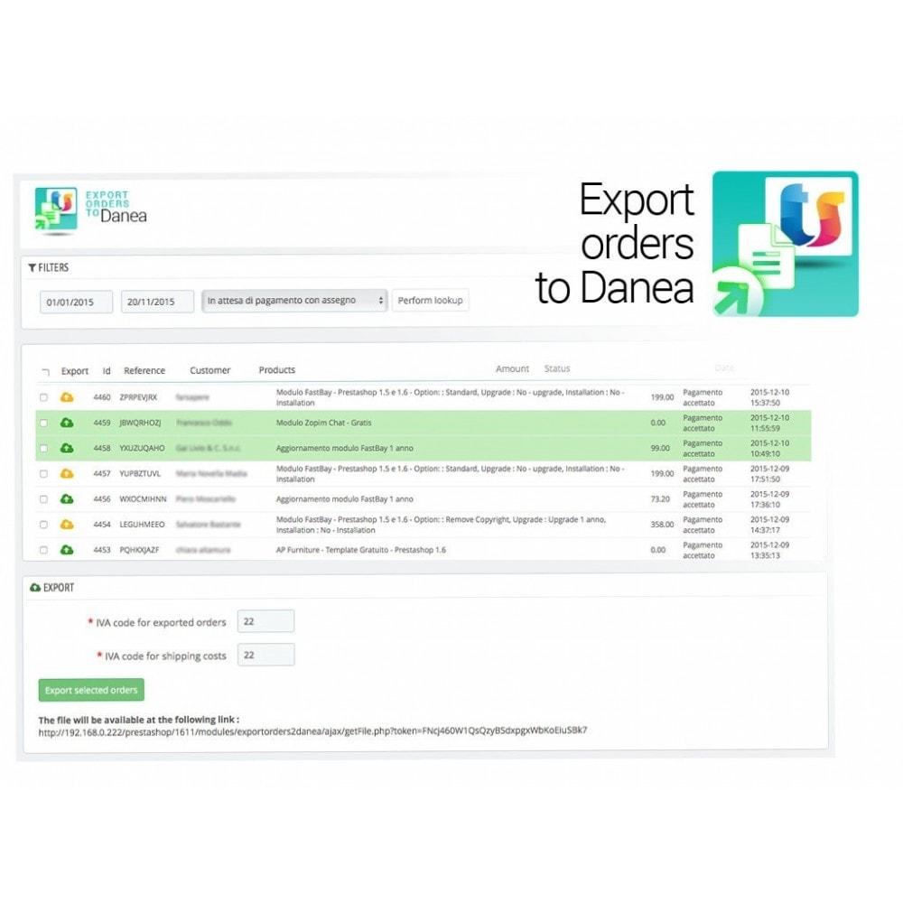 module - Соединение с внешней программой (CRM, ERP...) - Export orders to Danea EasyFatt - 2