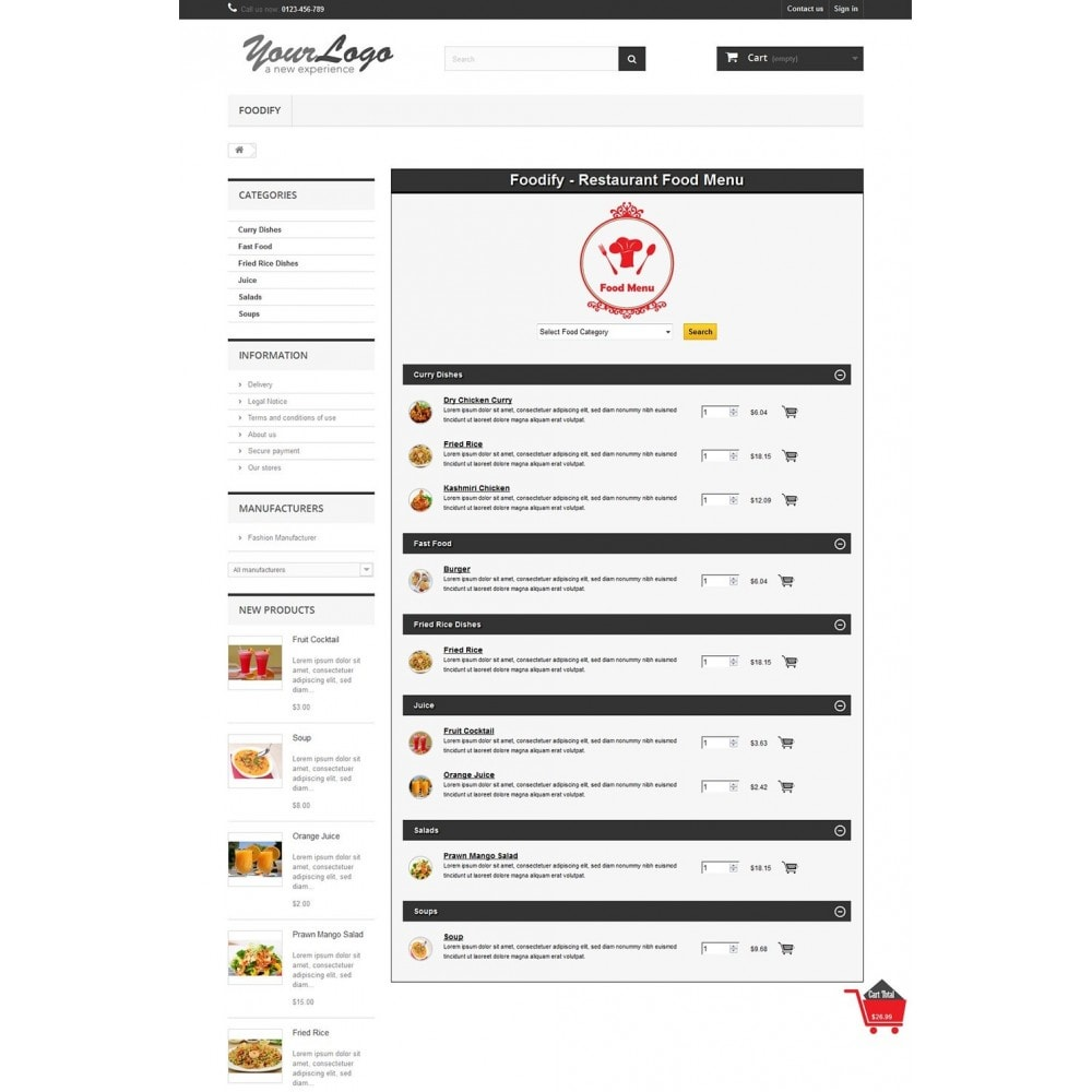 module - Alimentos & Restaurantes - Foodify Restaurant Food Menu - 7