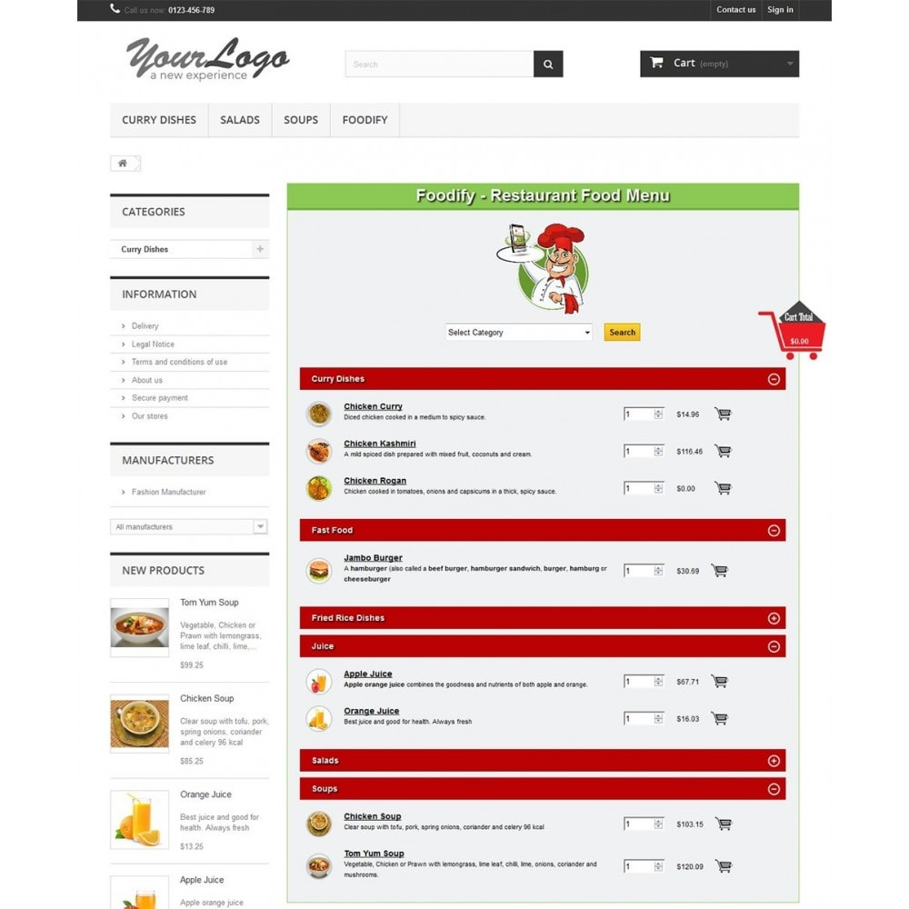 module - Alimentos & Restaurantes - Foodify Restaurant Food Menu - 1