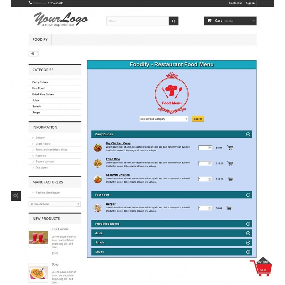 module - Alimentos & Restaurantes - Foodify Restaurant Food Menu - 4