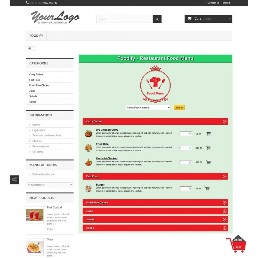 module - Alimentos & Restaurantes - Foodify Restaurant Food Menu - 5