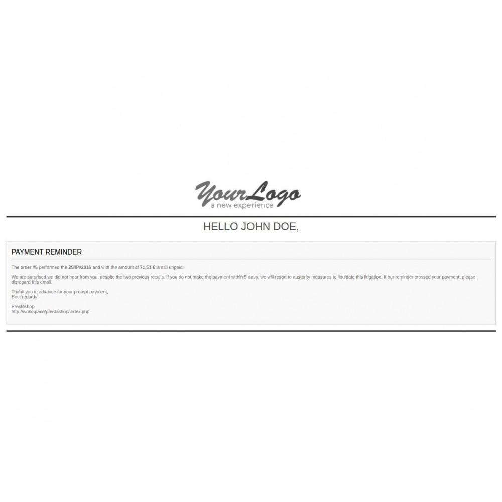 module - Gerenciamento de pedidos - Unpaid Order Reminder - 1