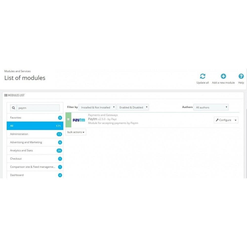 module - Płatność kartą lub Płatność Wallet - PayTM Payment - 1