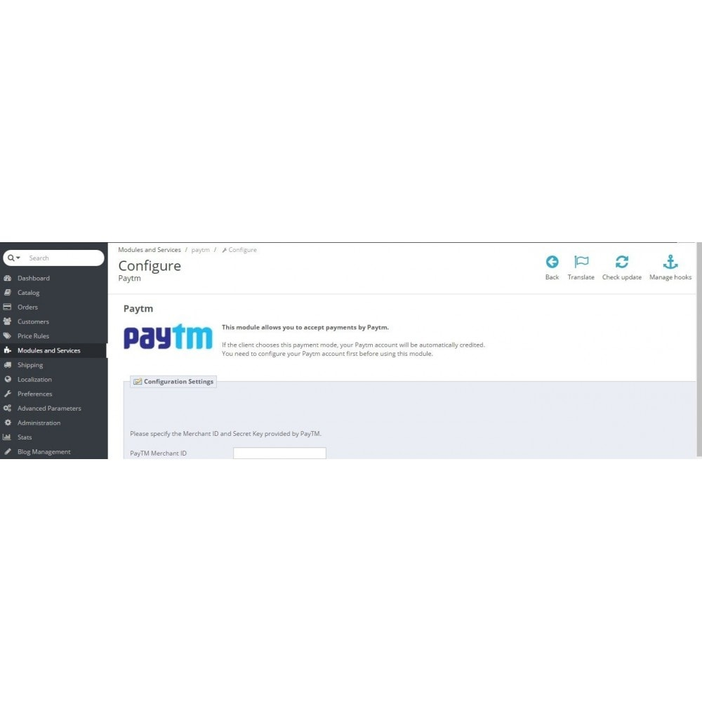 module - Pagamento con Carta di Credito o Wallet - PayTM Payment - 2