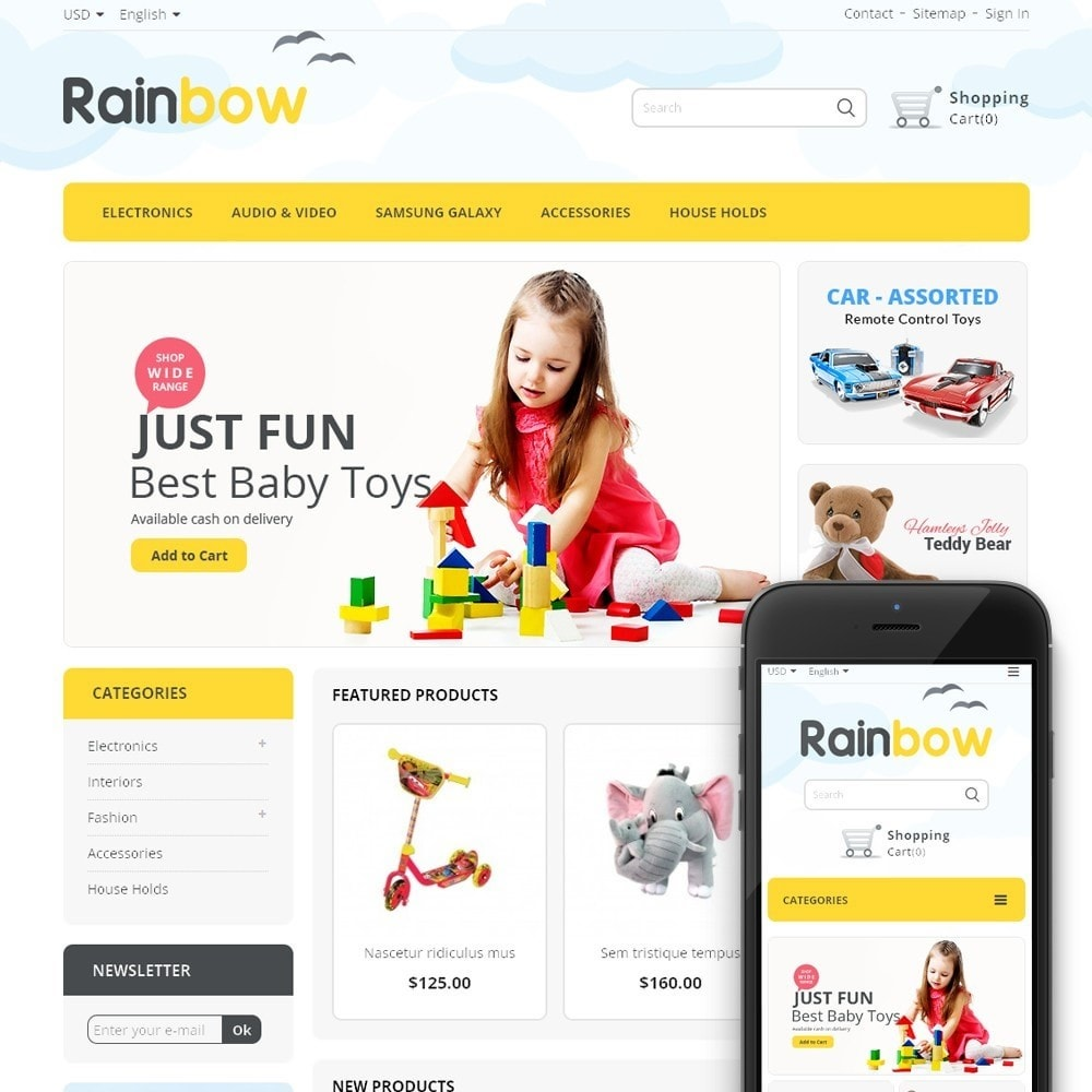 theme - Bambini & Giocattoli - Rainbow Store - 1
