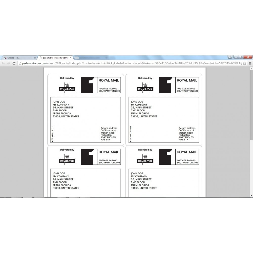 module - Voorbereiding & Verzending - Sticky Labels - Professional Shipping Labels - 9