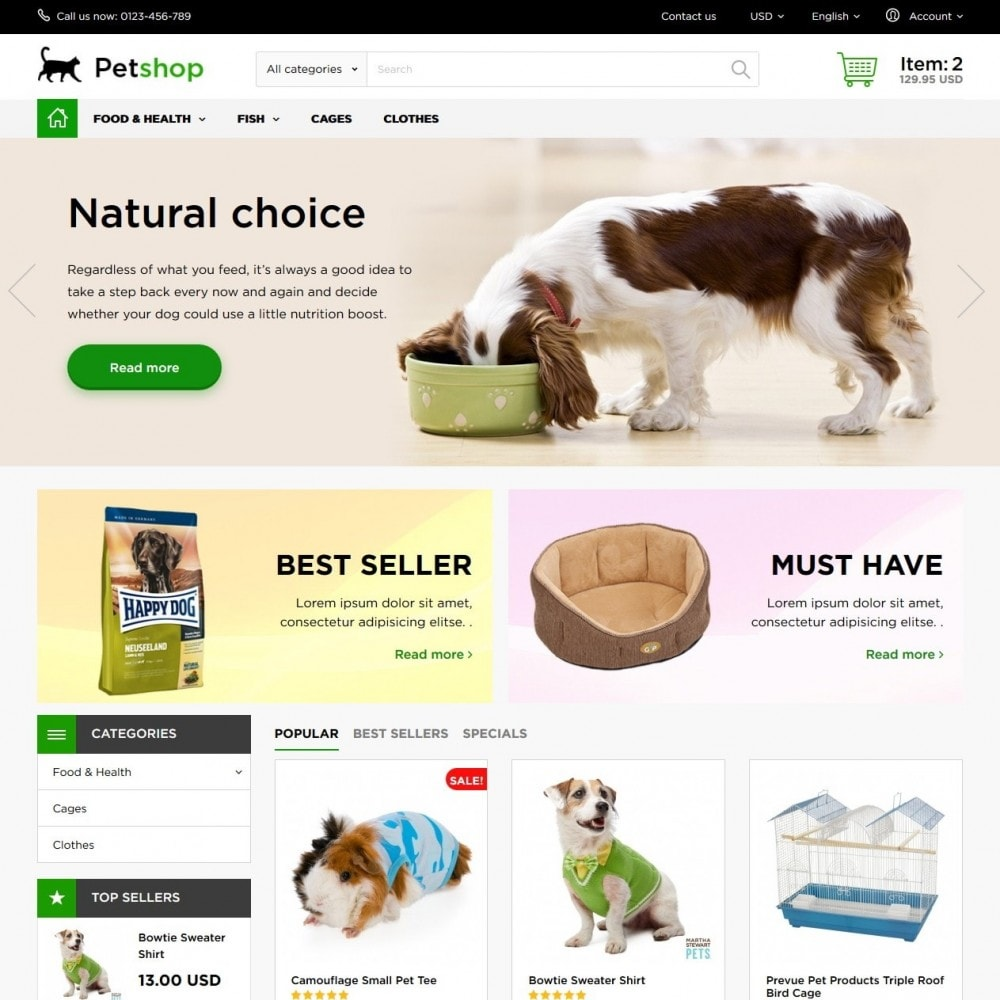 theme - Animals & Pets - Petshop - 2