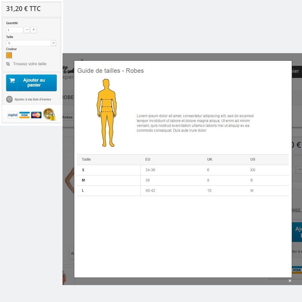 module - Tailles & Dimensions - Guide des tailles - 3