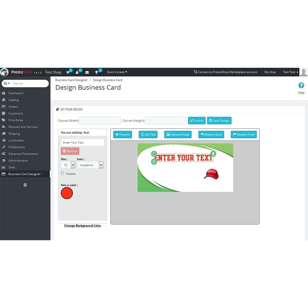 module - Deklinacje & Personalizacja produktów - Business Card Design - 10