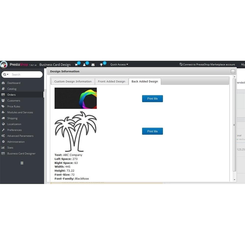 module - Deklinacje & Personalizacja produktów - Business Card Design - 16