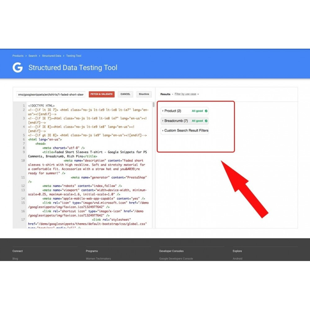 module - SEO - Google Snippets for PS Comments, Breadcrumb, Rich Pins - 5