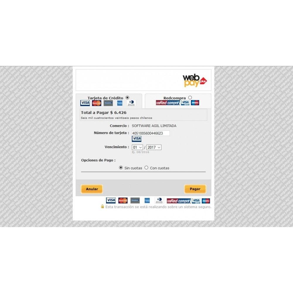 module - Pagamento por cartão ou por carteira - Webpay Webservice for Transbank  v. 2.0.0 - 5