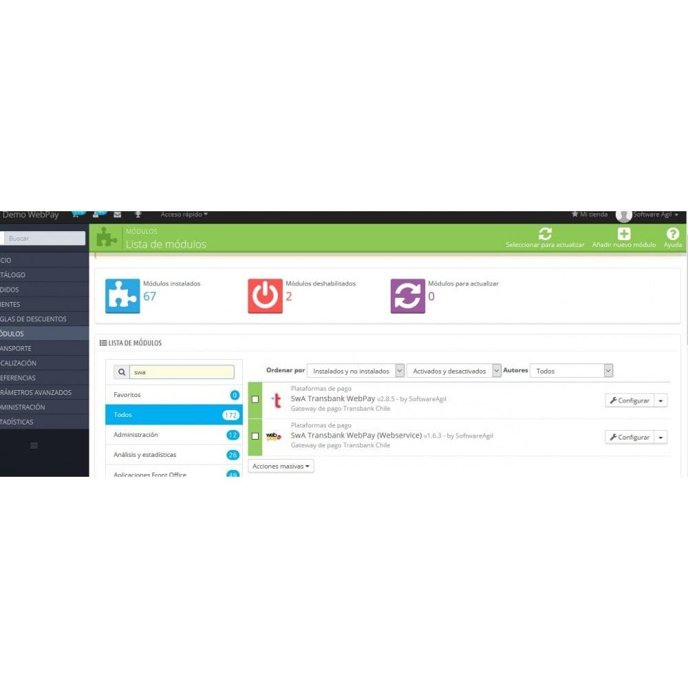module - Pagamento por cartão ou por carteira - Webpay Webservice for Transbank  v. 2.0.0 - 8