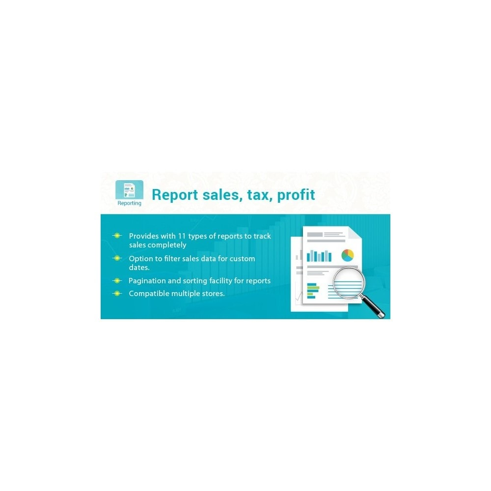 module - Data Integraties (CRM, ERP...) - Advanced Report sales, tax, profit Pro - 1