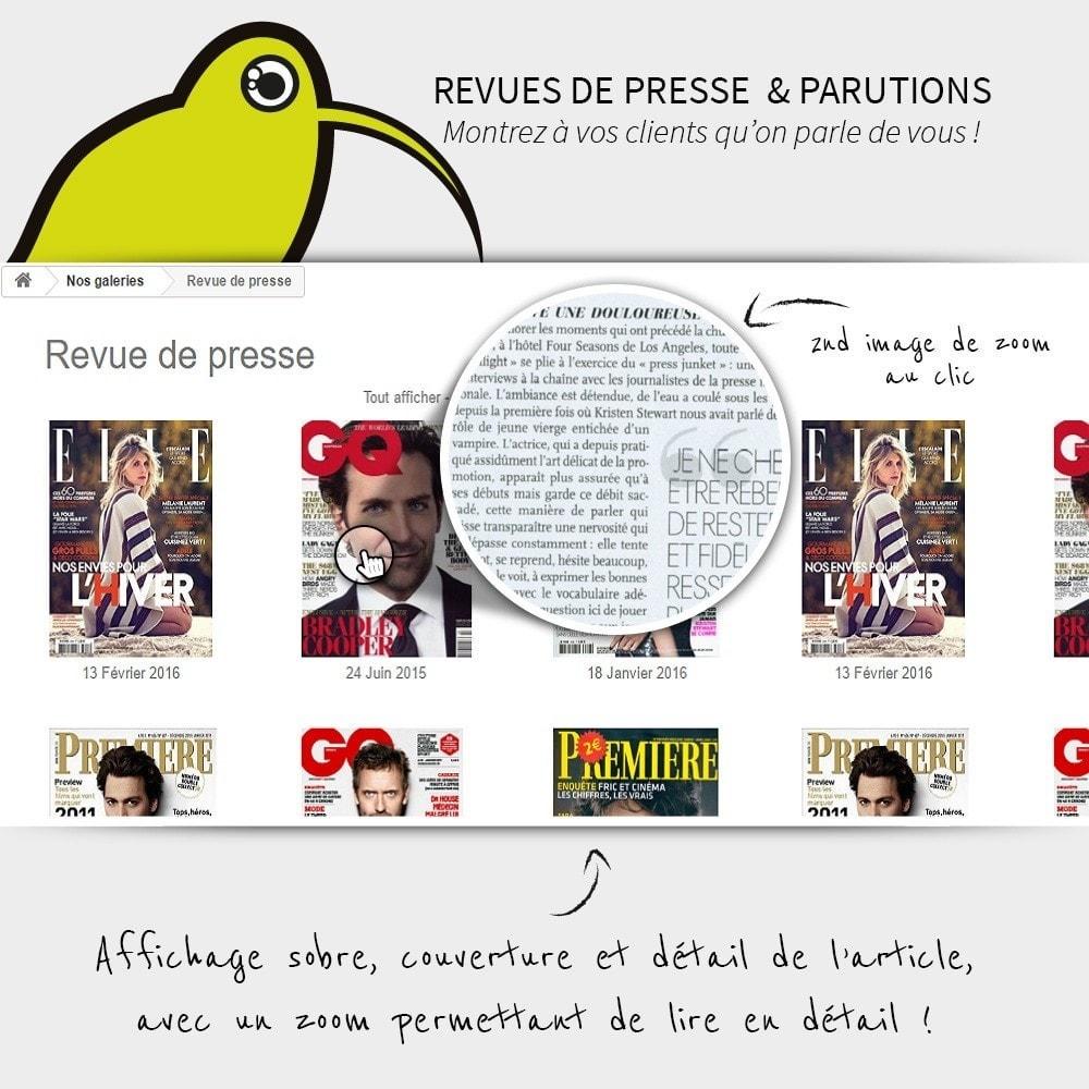 module - Avis clients - Revues de Presse   Parution - 1