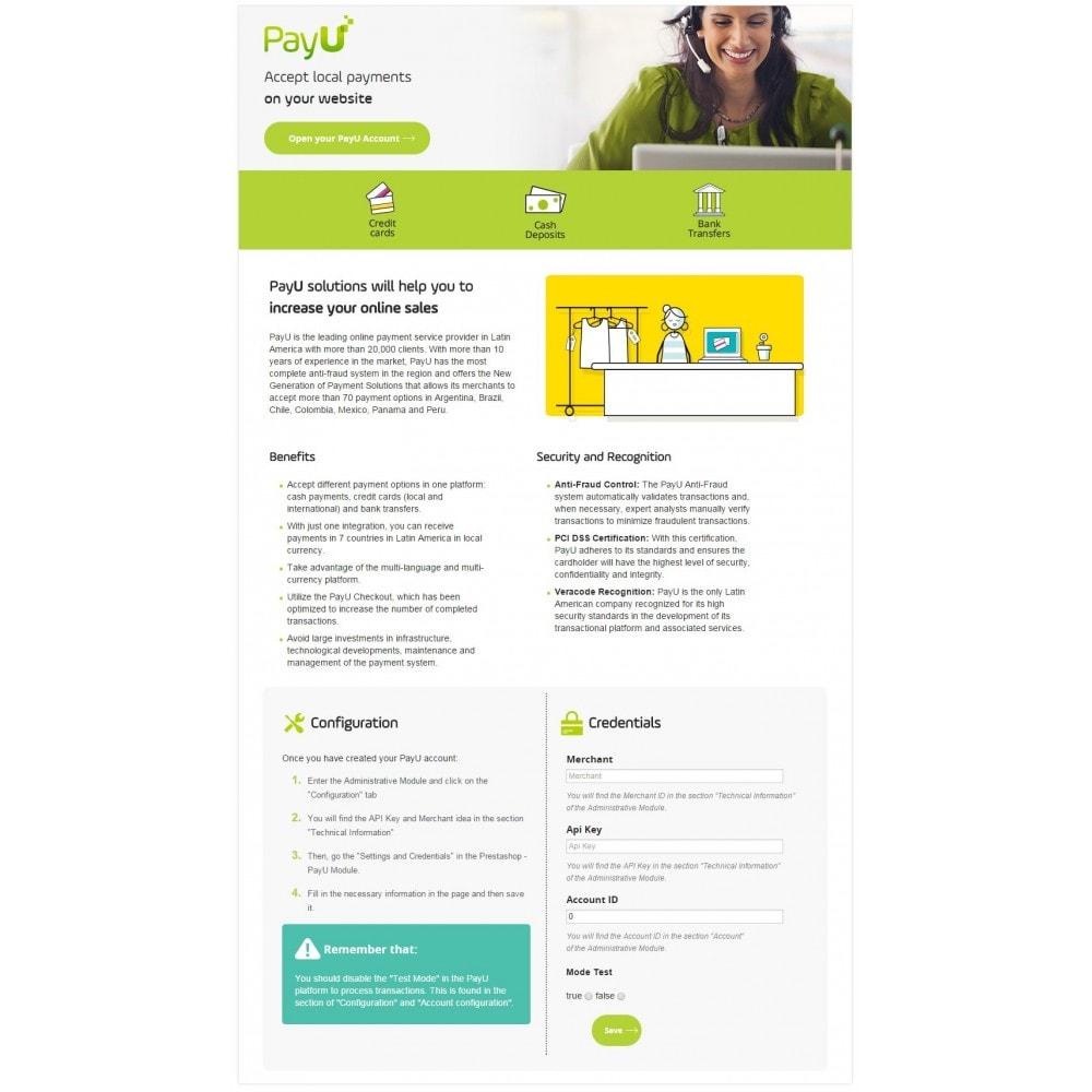 module - Pagamento por cartão ou por carteira - PayU Latam - 1