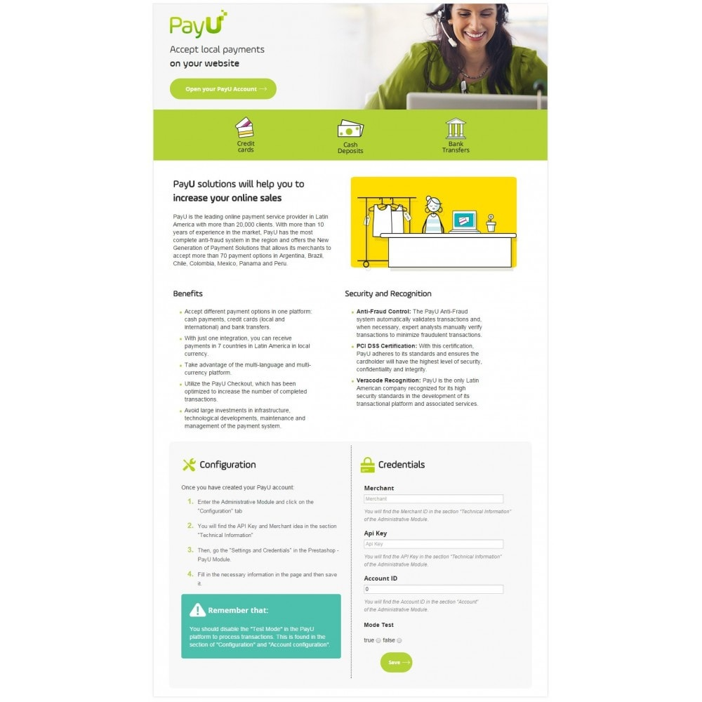 module - Payment by Card or Wallet - PayU Latam - 1