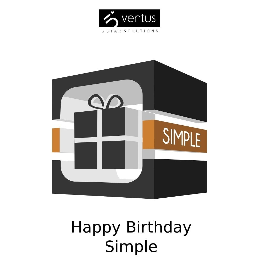 module - Loyaliteitsprogramma - Happy Birthday Simple - 1