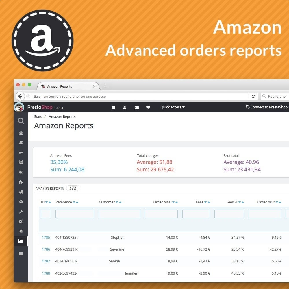 module - Order Management - Amazon Reports - 1