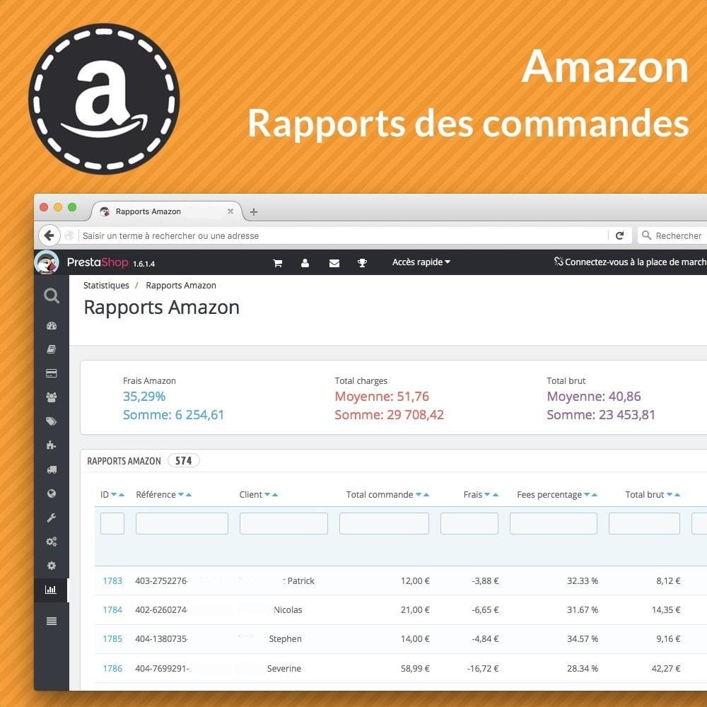 module - Gestion des Commandes - Rapports avancés des ventes Amazon - 1