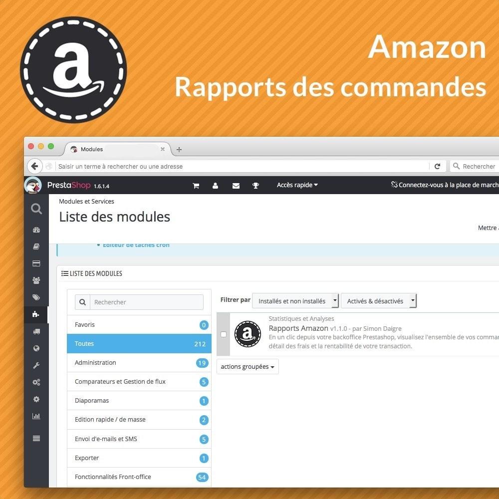 module - Gestion des Commandes - Rapports avancés des ventes Amazon - 2