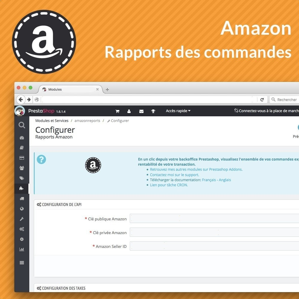module - Gestion des Commandes - Rapports avancés des ventes Amazon - 3