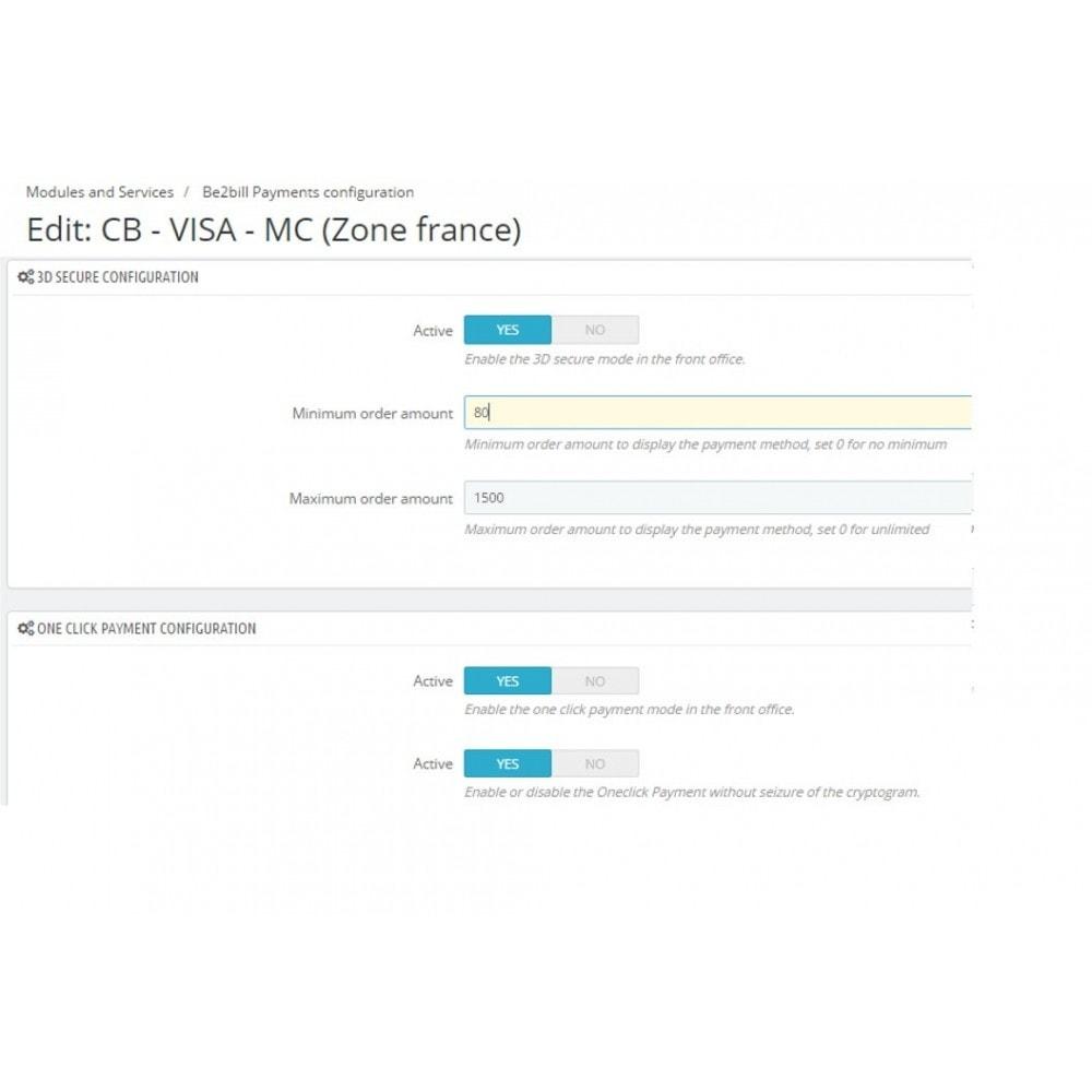 module - Paiement par Carte ou Wallet - Be2bill - Le service de paiement orienté CONVERSION - 3