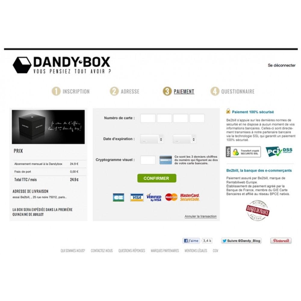 module - Paiement par Carte ou Wallet - Be2bill - Le service de paiement orienté CONVERSION - 7